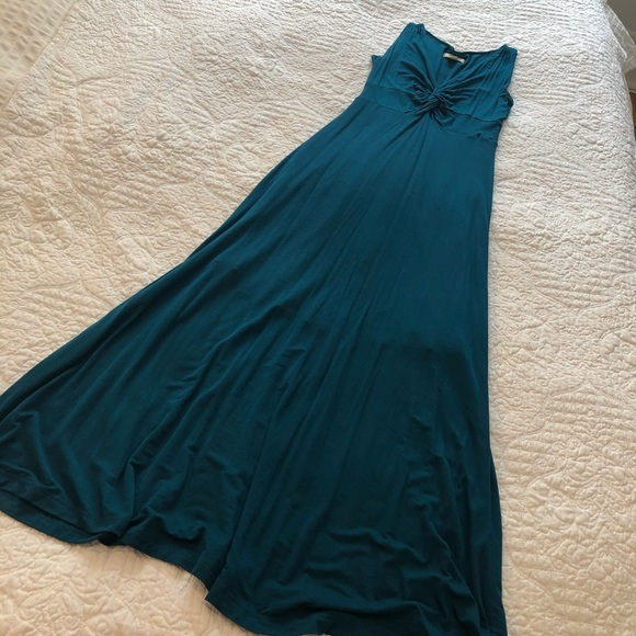 Anthropologie Maeve teal maxi dress worn once xs
